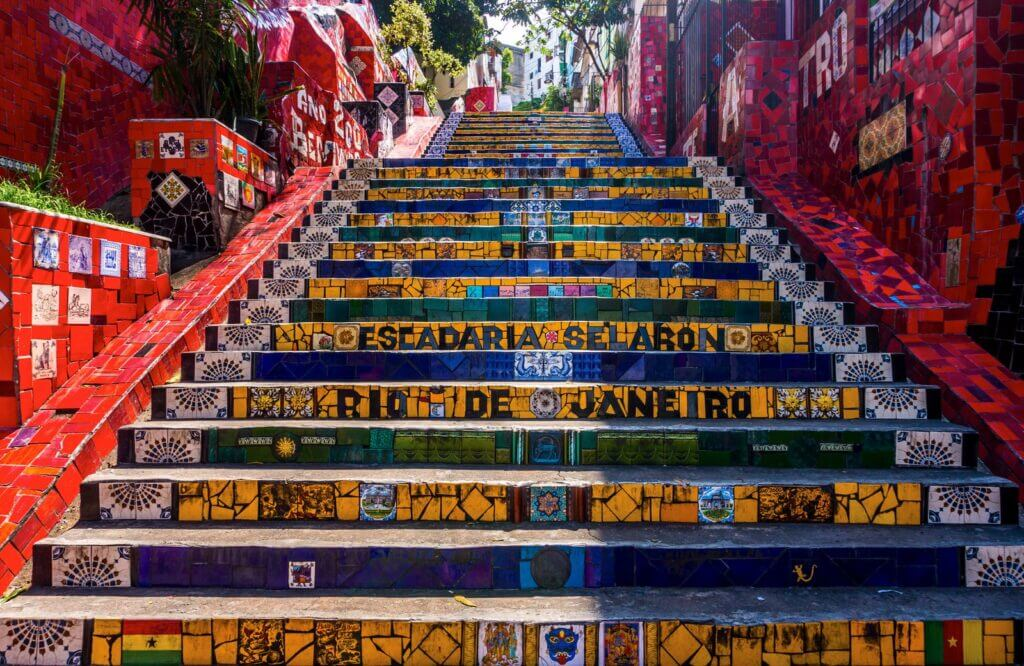 The colorful Selarón Steps in Rio
