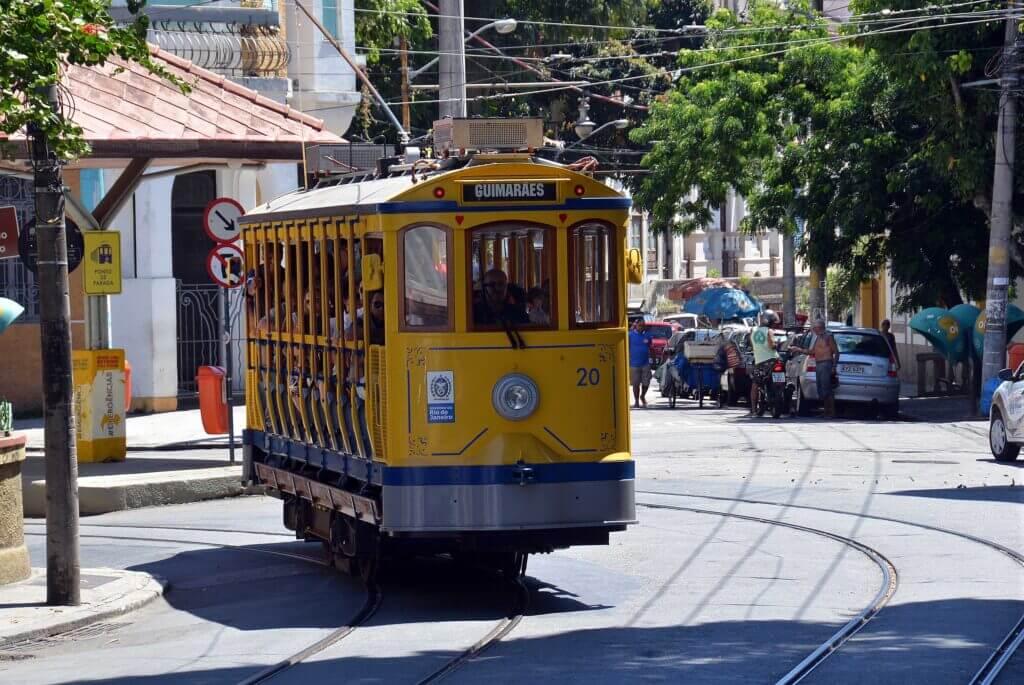 A tram in Santa Teresa