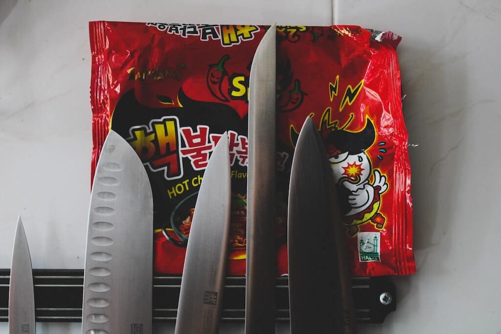 spicy samyang noodles packet