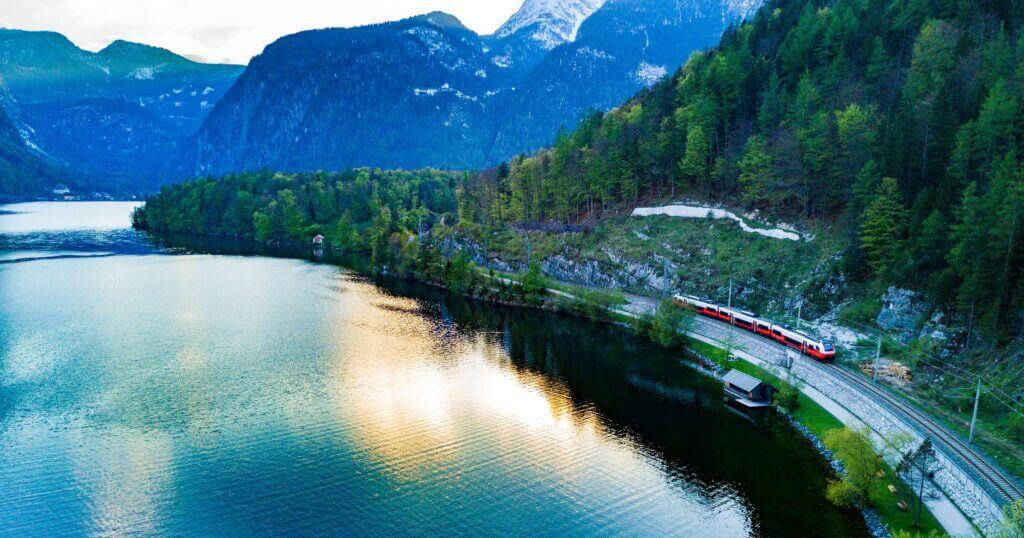 Mountain railway in Austria