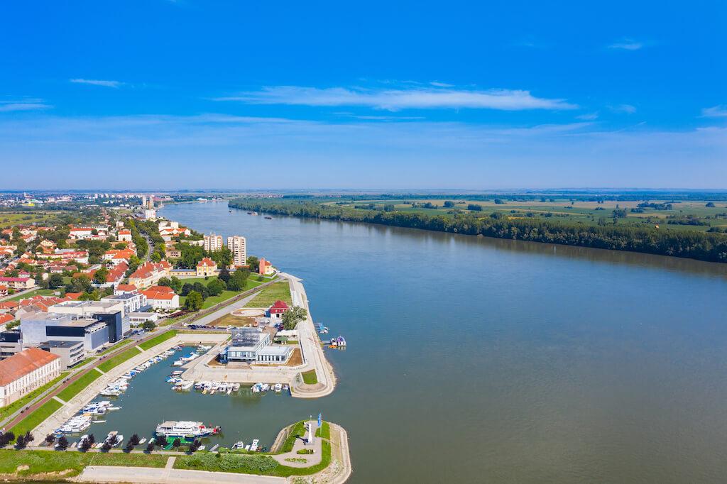 Danube river in Vukovar
