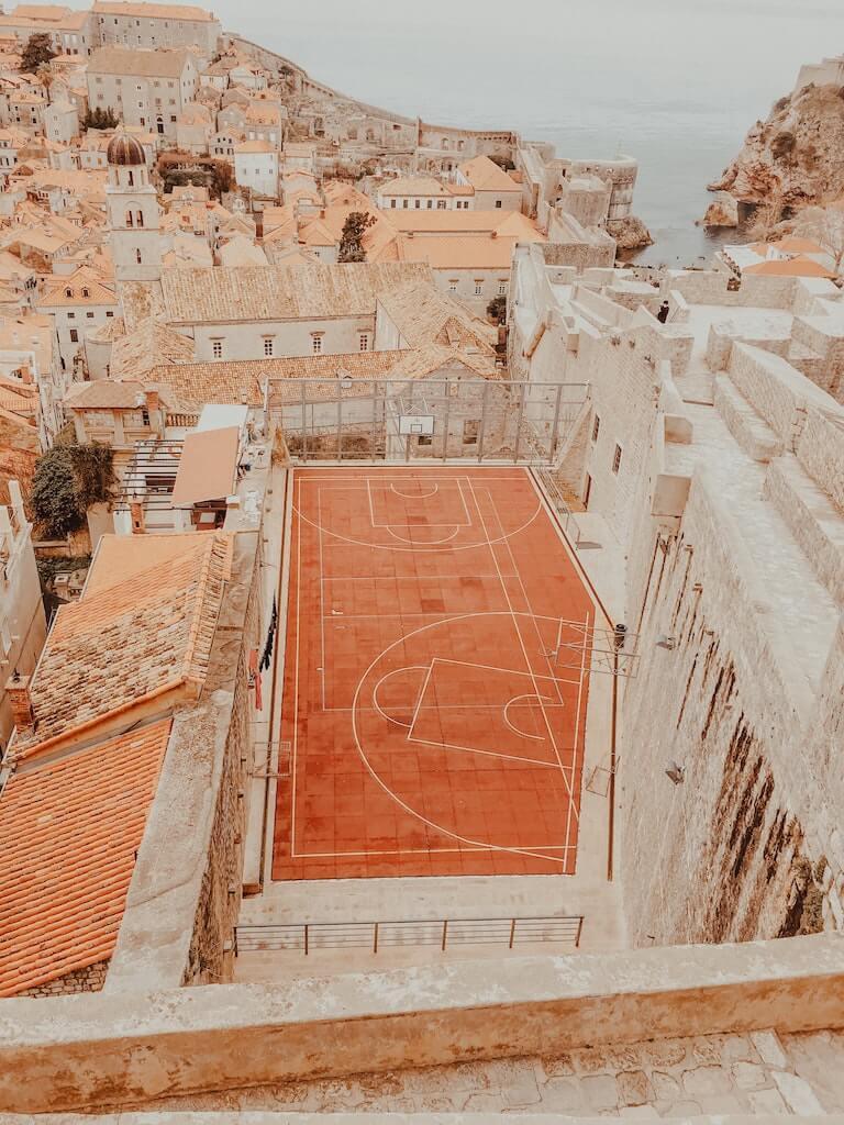 Basketball court in Dubrovnik