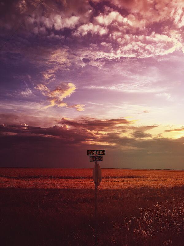 Sunset in Manitoba