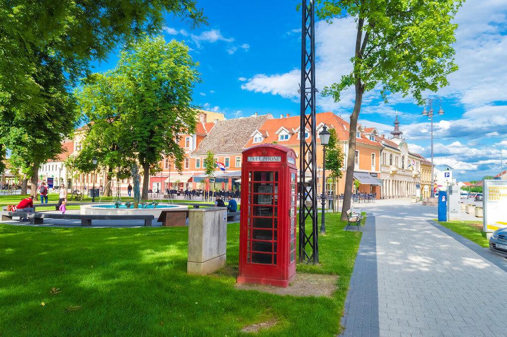Telephone box in Vinkovci