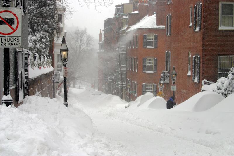 Blizzard in Massachusetts