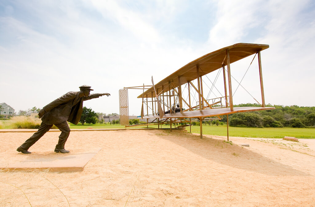 Wright Brothers National Memorial statue