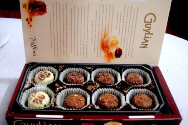 Box of Guylian chocolates