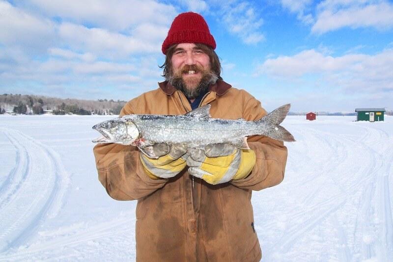ice fishing in Manitoba