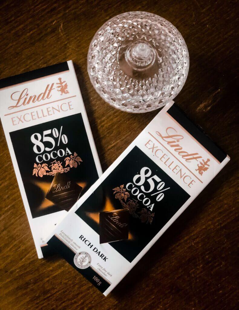 Lindt 85% chocolate bar