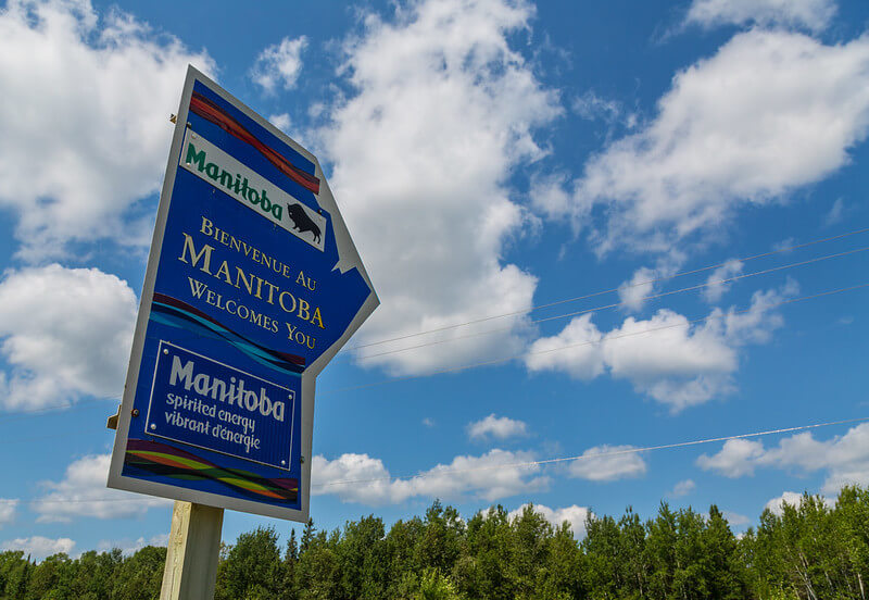 Welcome to Manitoba sign