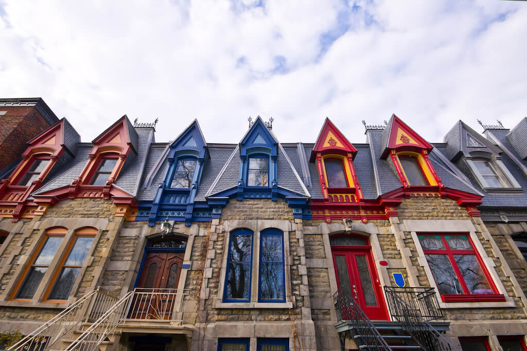 Victorian houses in Montreal