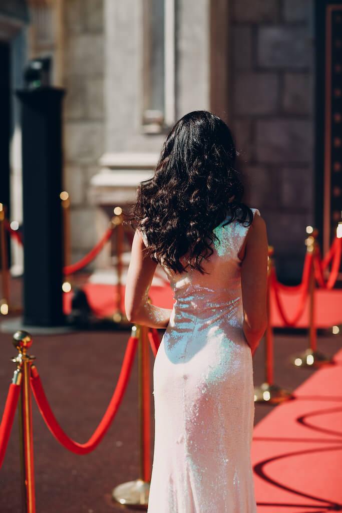 Women walking down the red carpet