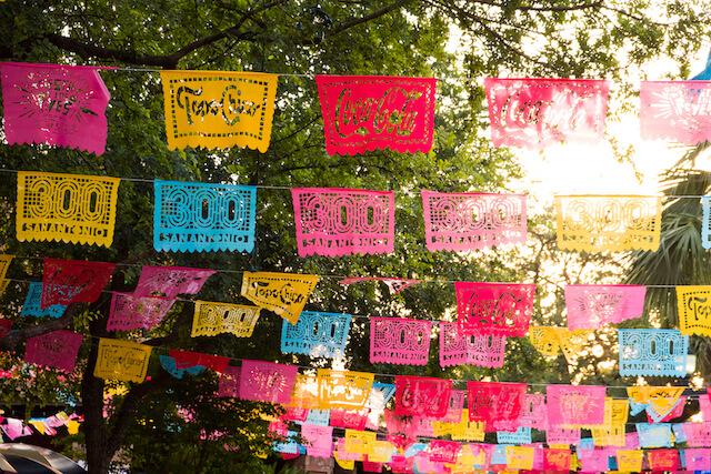 Fiesta flags for San Antonio Fiesta