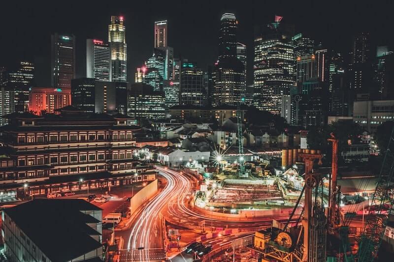 Night lights in Singapore