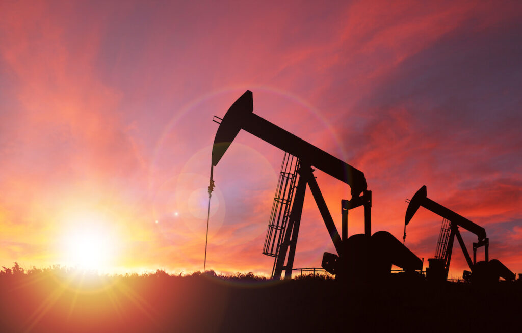 Oil rigs in Texas