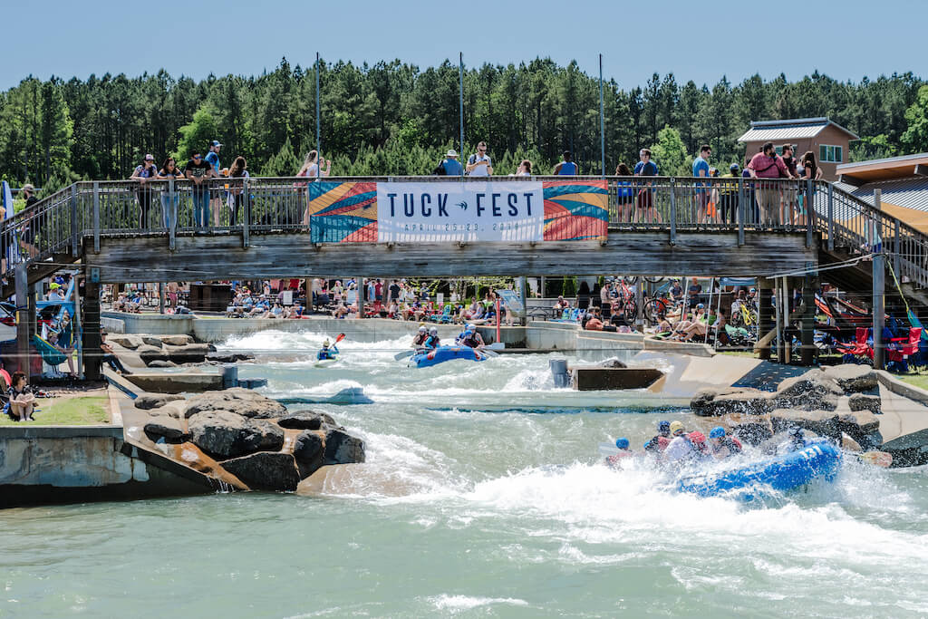 U.S. National Whitewater Center during the annual Tuck Fest.