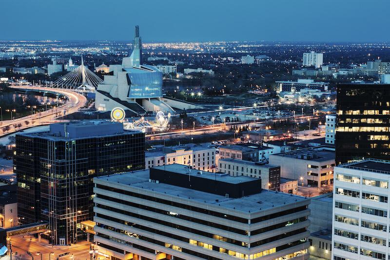 Winnipeg night panorama
